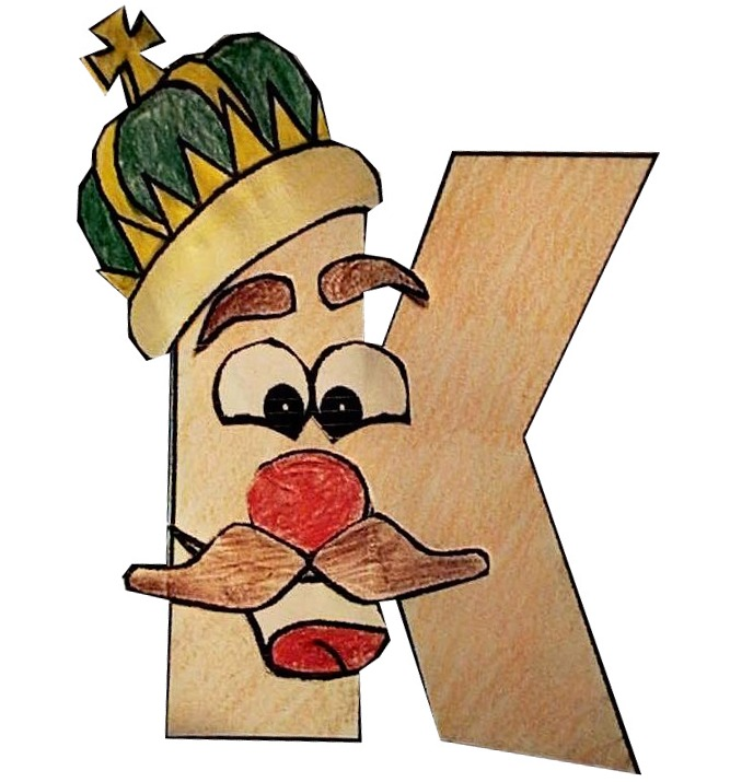 King k alphabet buddy dltks educational activities king k craft spiritdancerdesigns Choice Image