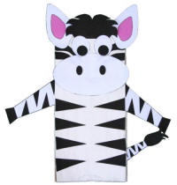 Paper Bag Zebra Craft