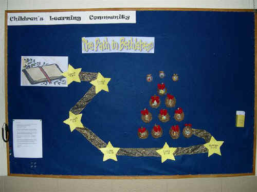 Road To Bethlehem Christmas Bulletin Board Suggestion