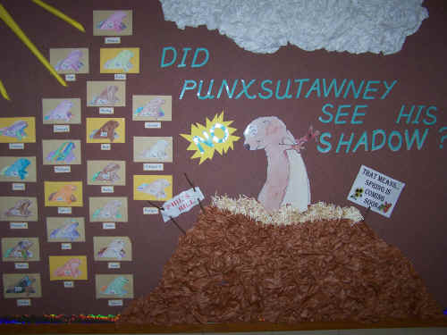 Groundhog's Day Bulletin Board Suggestion