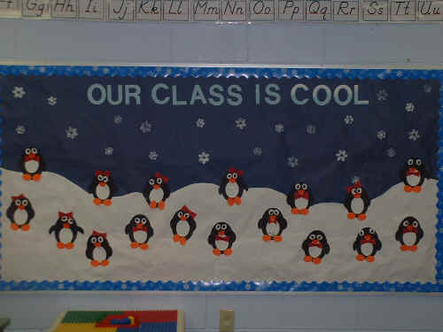 Classroom Bulletin Board Ideas For January ~ Our class is cool bulletin board suggestion