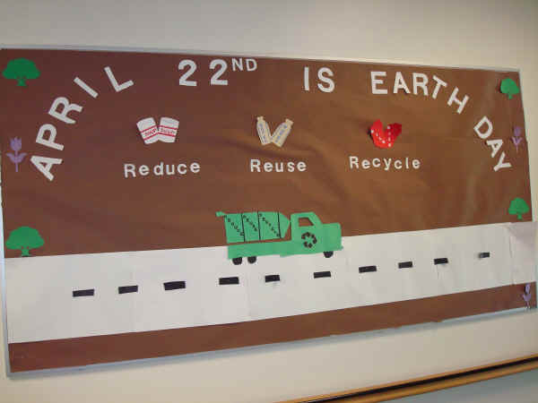 Reduce, Reuse And Recycle Bulletin Board Suggestion