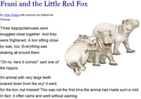 Frani and the Little Red Fox story