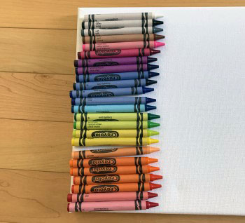 line up the crayons