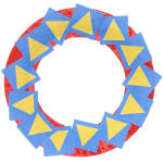 Colors and Shapes Paper Plate Wreath