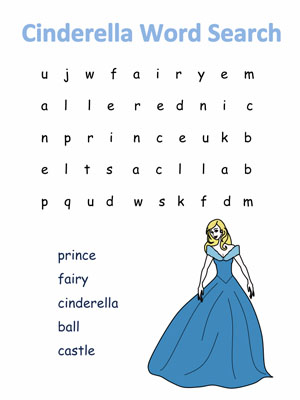Children's Story and Fairy Tale Word Search Puzzles