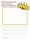 Emperor's New Clothes Creative Writing Activities