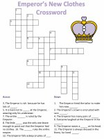 Picture Crossword Puzzle for Emperor's New Clothes