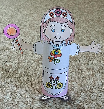 Gretel Toilet Paper Roll Craft