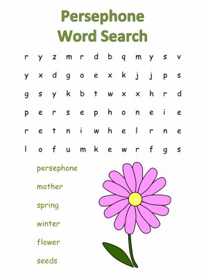 Persephone Word Search Puzzles