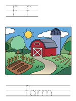 Printable print practice worksheet - Ff farm