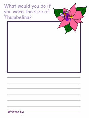 Thumbelina Draw and Write Activities