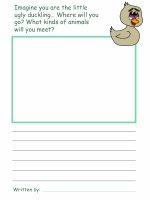 Ugly Duckling Draw and Write worksheet