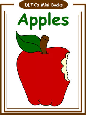 photograph regarding Apples to Apples Cards Printable known as DLTKs Crank out Your Private Textbooks - Apples