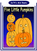 graphic relating to Five Little Pumpkins Printable referred to as DLTKs Crank out Your Personal Guides - 5 Minor Pumpkins