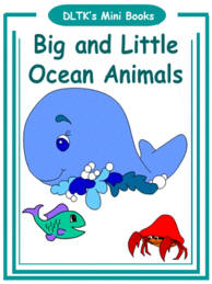 image about Printable Ocean Animals titled DLTKs Produce Your Personal Textbooks - Substantial and Tiny Ocean Pets