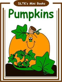 Dltks make your own books pumpkins dltks educational ideas print and assemble books pumpkins mini book m4hsunfo