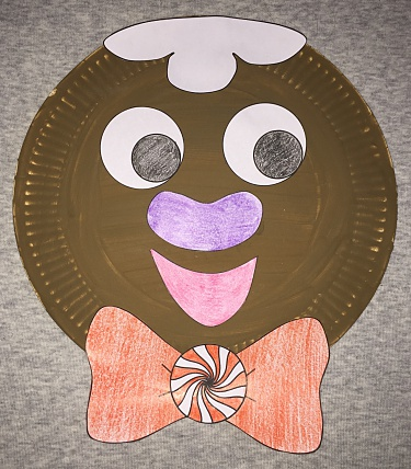 & Gingerbread Man paper plate craft