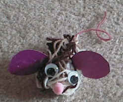 mouse egg carton craft