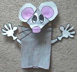 3d paper mouse | the craft train.