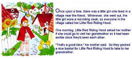 graphic relating to Little Red Riding Hood Story Printable called Minor Crimson Using Hood Things to do