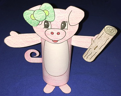 Patty Pig Tp Roll Craft