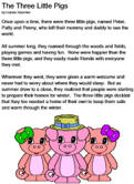 graphic relating to Three Little Pigs Story Printable called The A few Very little Pigs