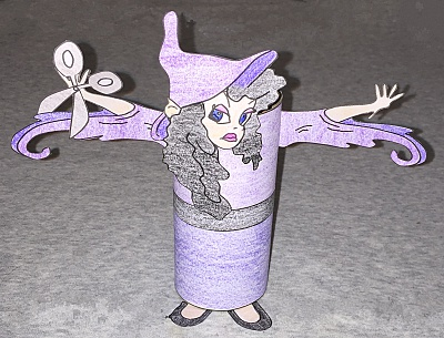 Witch From Rapunzel Tp Roll Craft