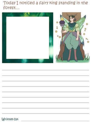 Fairies' Story Draw and Write Worksheets